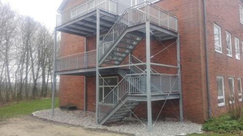 Treppenstahlkonstruktion Kasernengelände Albersdorf