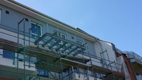 Stahlträger und Balkon in Hamburg Lurup